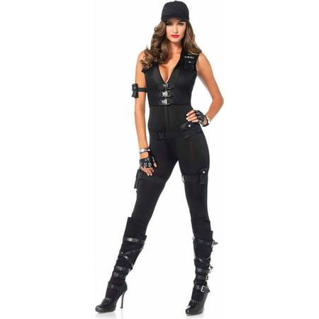 Leg Avenue 5-Piece Deluxe SWAT Commander Adult Halloween Costume (Legs Avenue Halloween)