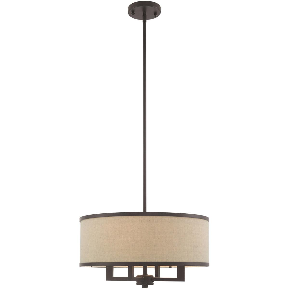 Chandeliers 4 light fixtures with bronze finish steel material candelabra 18 240 watts