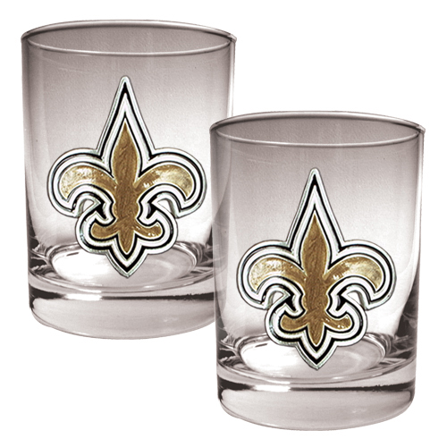 New Orleans Saints 14oz. Rocks Glass Set - No Size