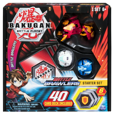 Bakugan, Battle Brawlers Starter Set with Bakugan Transforming Creatures, Pyrus Hydorous, for Ages 6 and