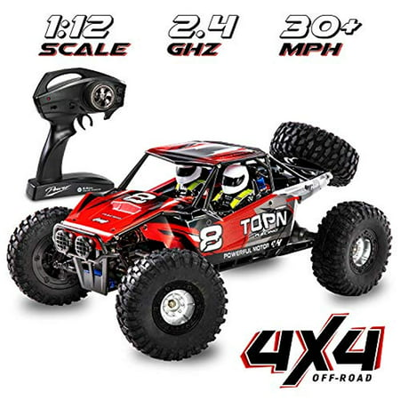 - 1:12 Scale Fast RC Car Off/On Road 4x4 30+ MPH (50 km/h) High Speed Vehicle 2.4GHz Radio Remote Control Buggy, Delivers Hours of Action-Packed Driving & Racing All Kinds of Extreme Terrain