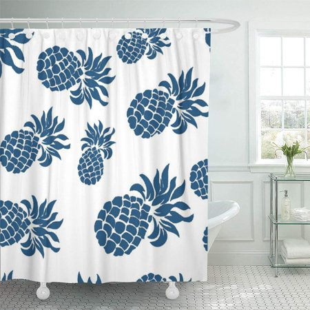 XDDJA Sofa Tropical Ocean Blue Pineapple Stripe White Home Shower Curtain 66x72 inch - image 1 of 1
