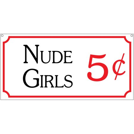 Nude Girls 5c- 6x12 Aluminum Retro Club Bar Man Cave garage sign (Retro Nude)