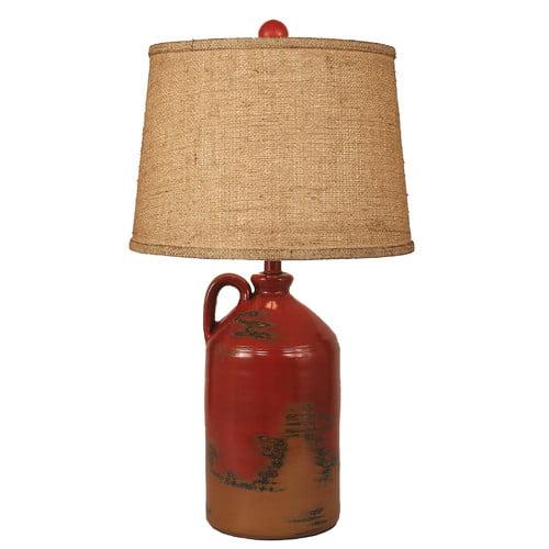 Coast Lamp Mfg. Rustic Living Handle Pottery Jug 27.5'' T...