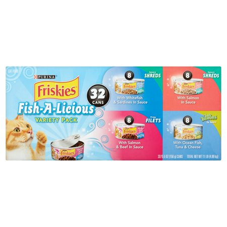 Purina friskies fish a licious cat food variety pack 32 5 for Friskies cat fishing