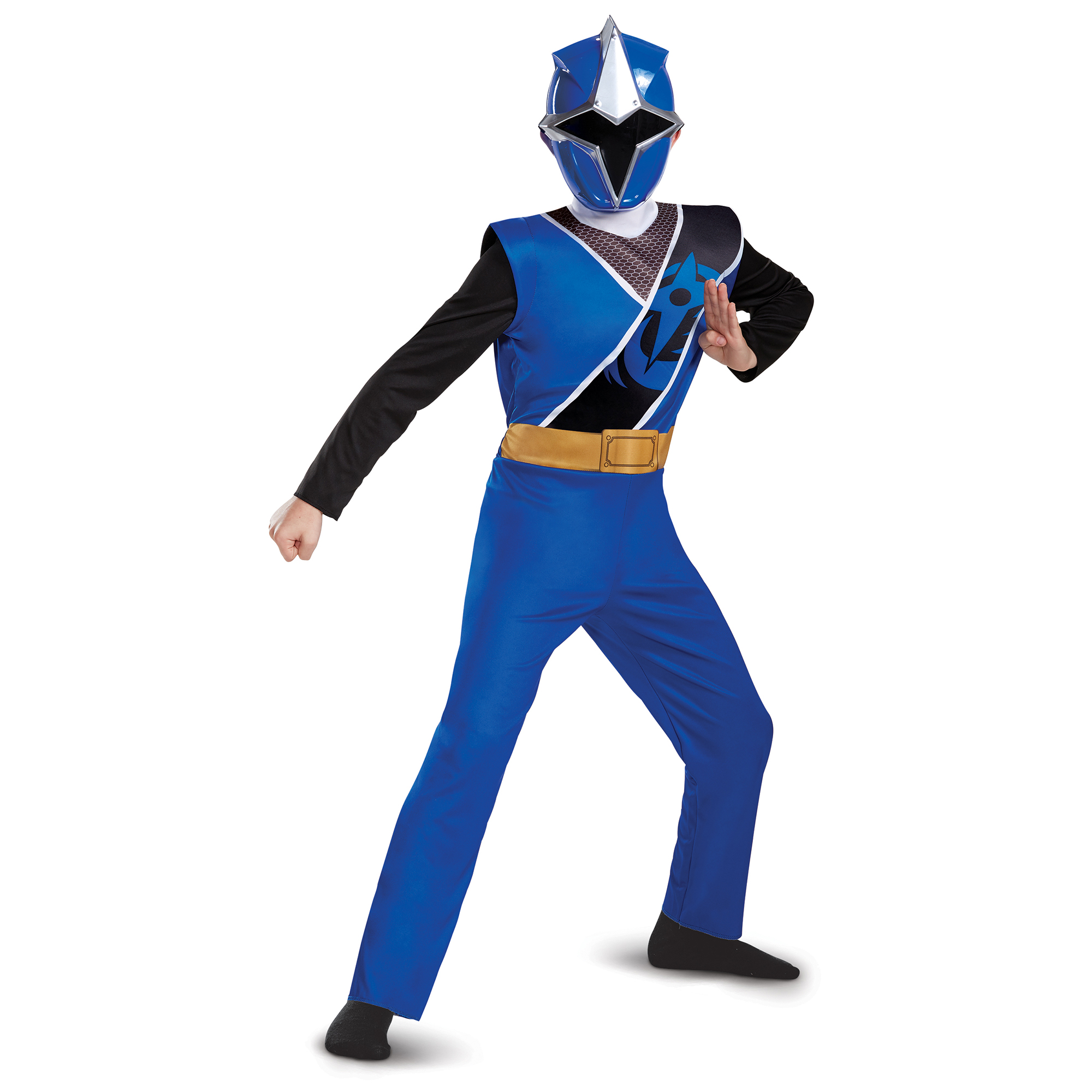 Power Rangers Ninja Steel Boys' Blue Ranger Basic Costume