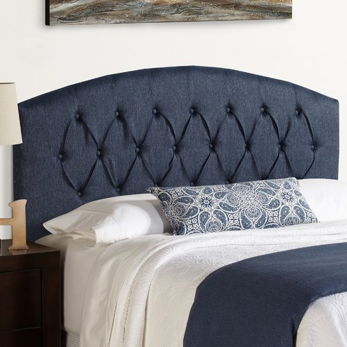 Mozaic Company Humble + Haute Hanover Curved Upholstered Headboard in Blue