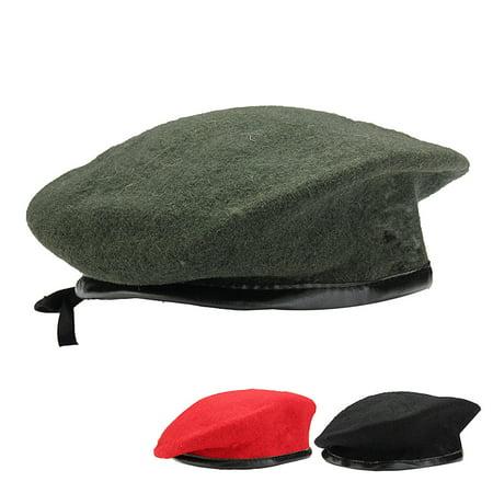 Vintage Unisex Men Women Military Wool Beret Cap Soldier Army Beanie Hat