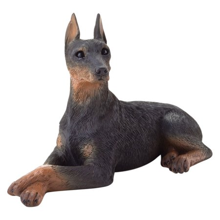 Sandicast Small Size Black Doberman Pinscher Sculpture