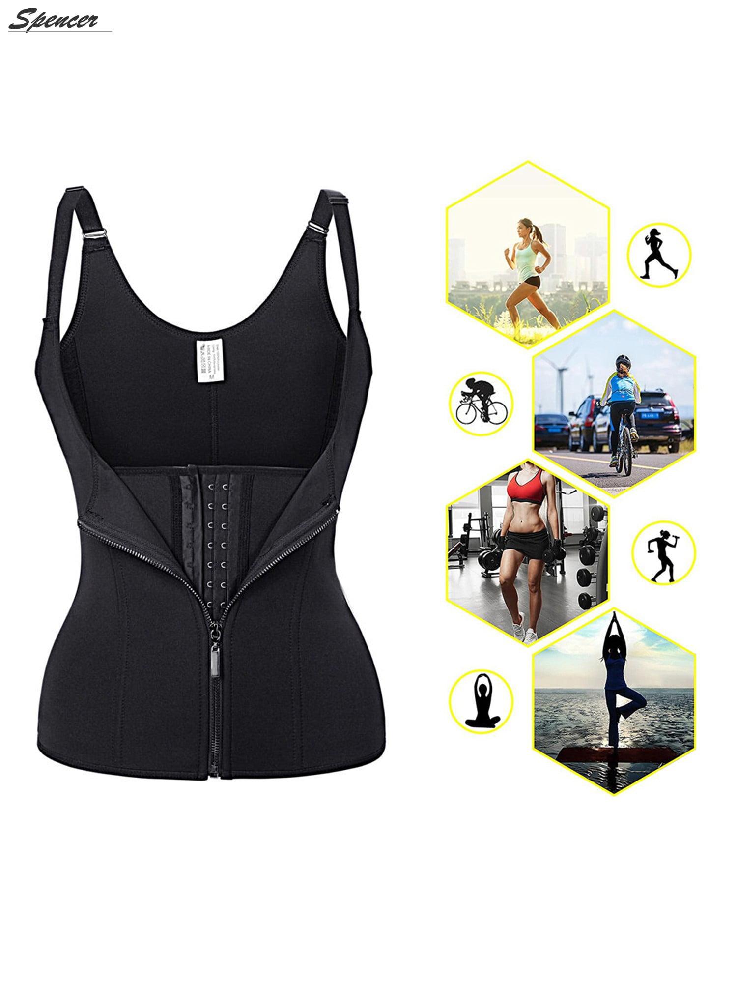 0bb3470905a38 Spencer - Spencer Women Sauna Body Shaper Waist Cincher Trainer Underbust  Corset Shapewear Tummy Control Slimming Vest