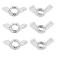 M10 10mm Thread Stainless Steel Wingnut Butterfly Wing Nuts 6pcs