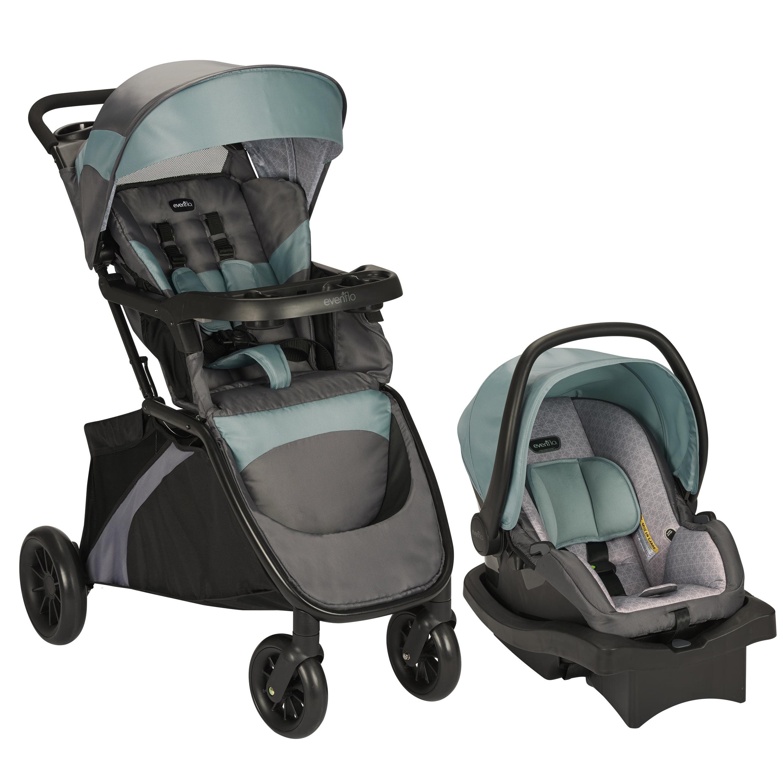 Evenflo Infant Car Seat Blue Advanced SensorSafe Epic Travel System W LiteMax