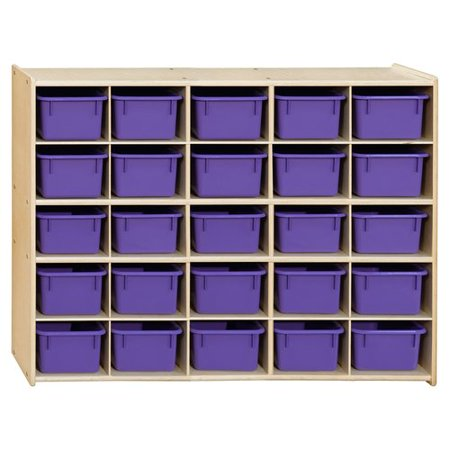 Wood Designs Contender 25 Compartment Cubby with Trays