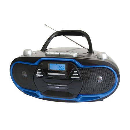 Supersonic Portable MP3 CD Player with USB AUX Inputs, Cassette Recorder & AM FM Radio by