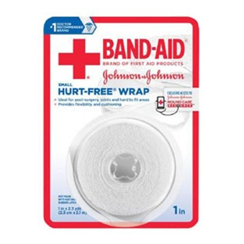 JOHNSON & JOHNSON Band-Aid First Aid Hurt-Free Wrap 1 Inch X 2.3 Yards 2.30 Yards (Pack of 3)