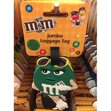 4cd4389968d7 M&M'S M&M's World Green Jumbo Luggage Backpack Tag New with Tags