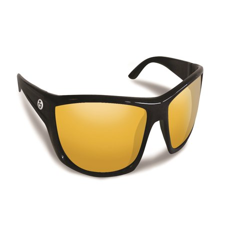 66e237909c Flying Fisherman Buchanan Black w Yellow Amber Sunglasses - Walmart.com