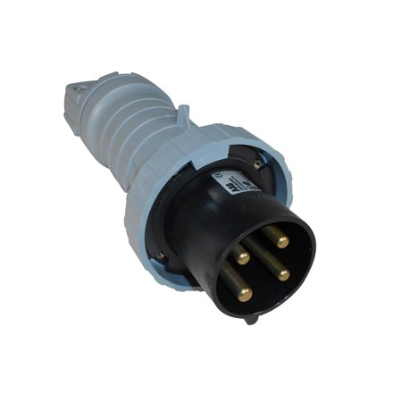 ABB - Russelstoll - ABB460P5W - IEC Plug 60 Amp - 3 Phase - 3 Pole 4 Wire - 600 Volt - Pin and Sleeve Connector