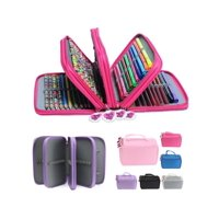 Asewin Pencil Case , Pen Case Drawing Pencil Bag 4 Layer 72 Sockets with Zipper for Kids Child Painter Artist