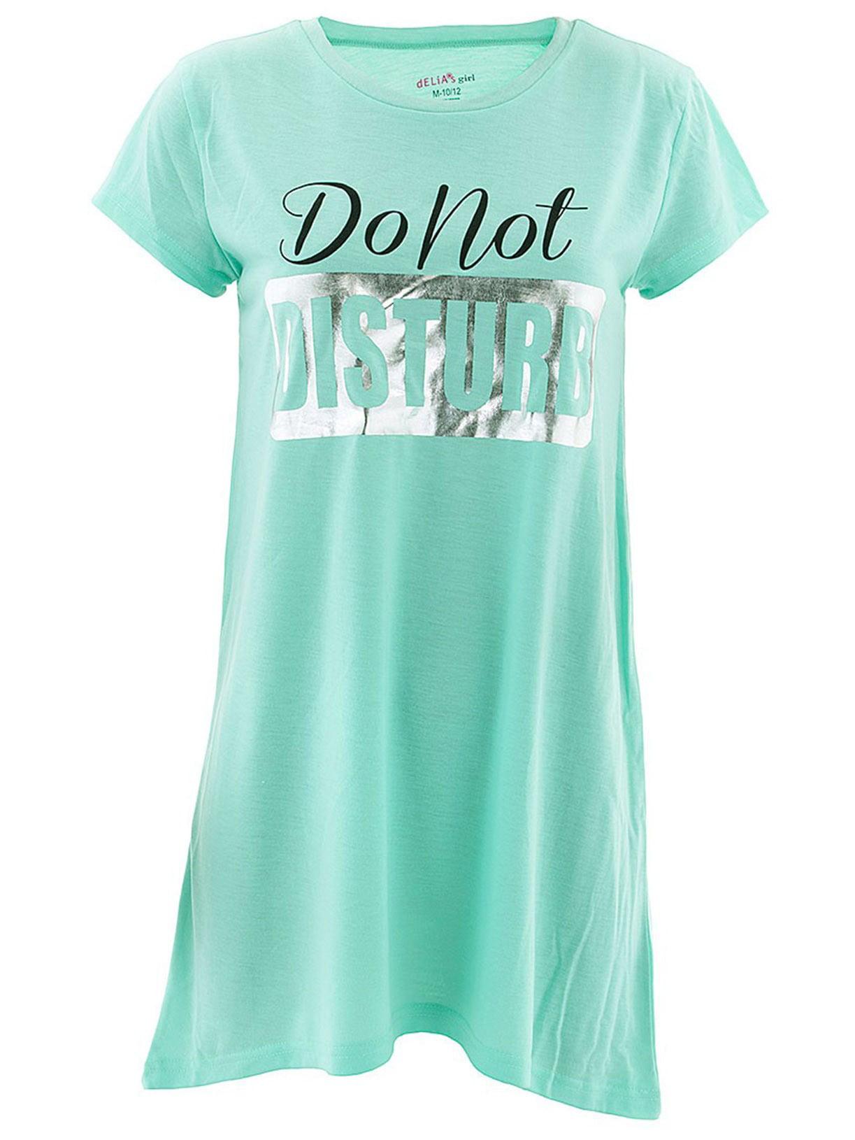 Do Not Disturb Green Nightgown for Girls