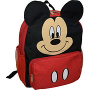 "Mickey Mouse 3D Ears 12"" Toddler Backpack With Match Game"