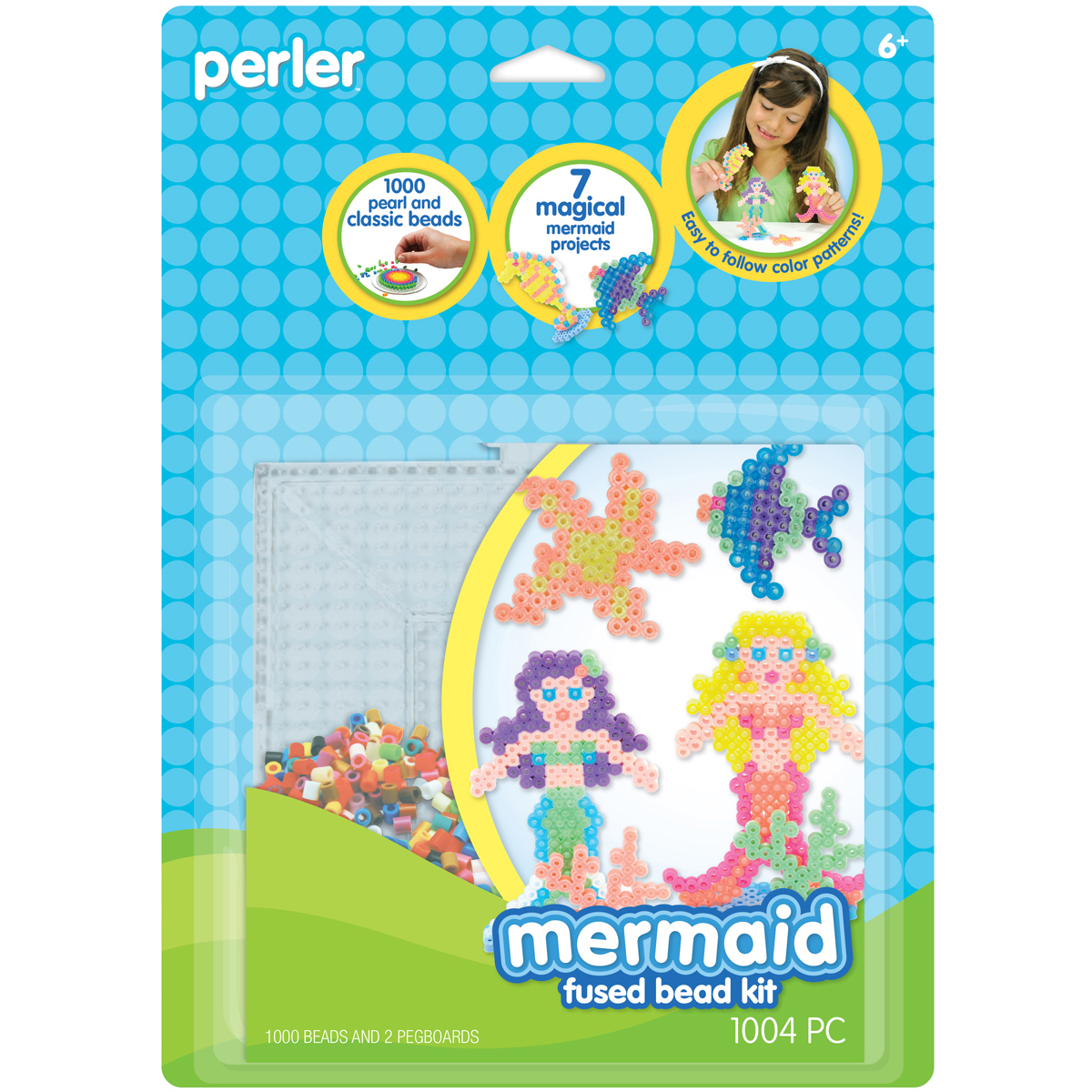 Perler Fun Fusion Fuse Bead Activity Kit, Mermaid