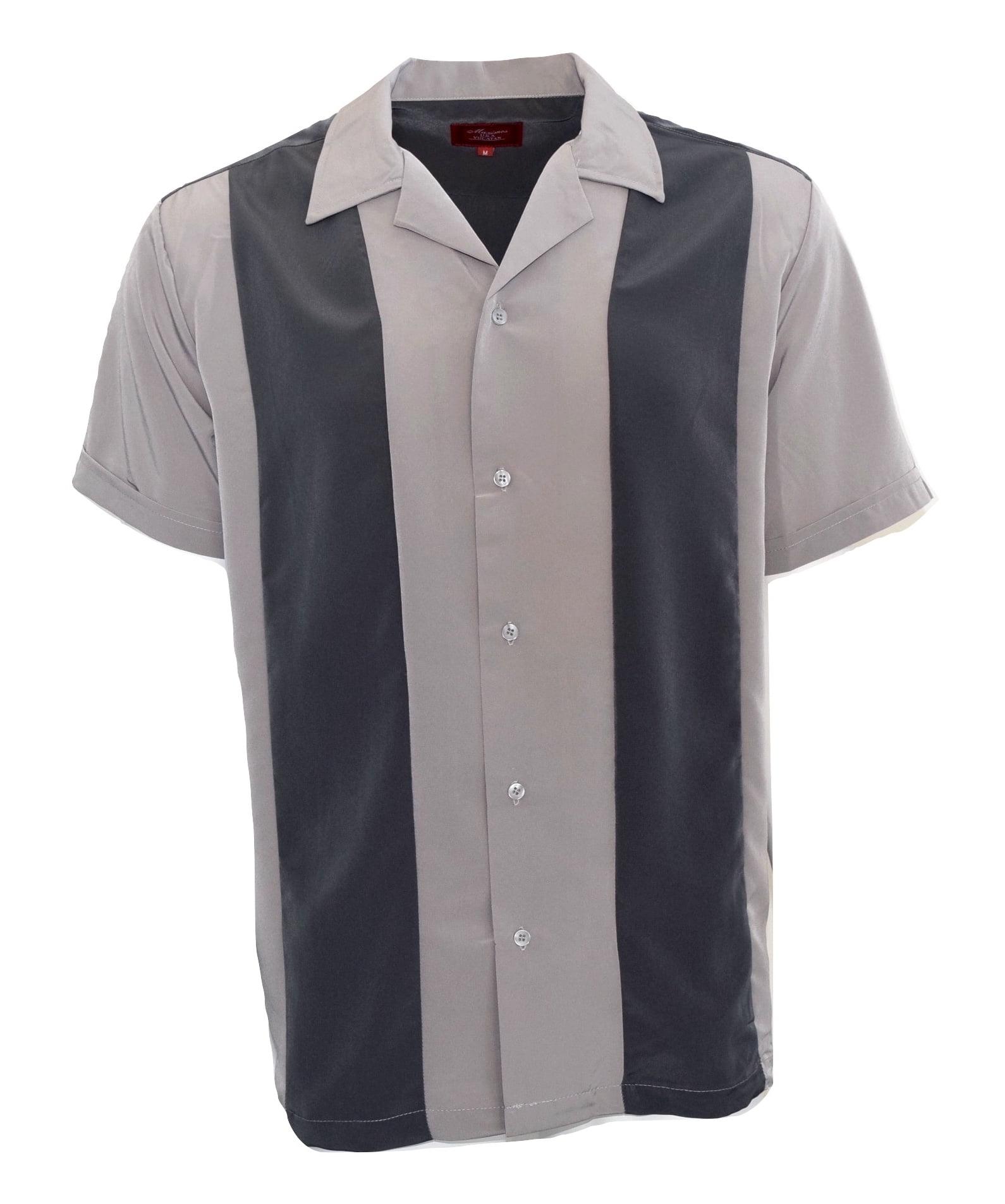 Mens Shirts Vintage Coffee Bowling Shirts Button Down Shirts