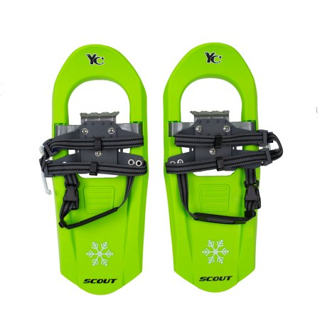 - Yukon Charlie's Junior Scout 7 x 16 Durable Youth Hiking Molded Snowshoes, Green