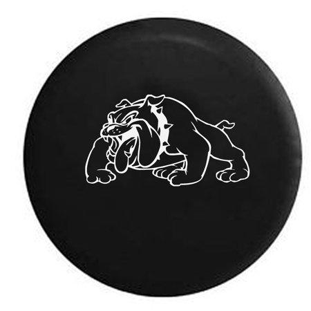 USMC Bulldog Military Devil Dog Spare Tire Cover Vinyl Black 31 in
