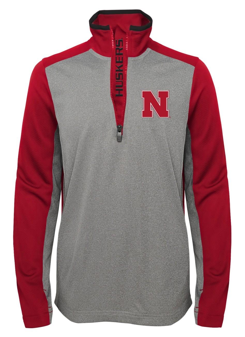 "Nebraska Cornhuskers NCAA ""Top Notch"" Men's 1 4 Zip Mock Neck Jacket by Gen2"