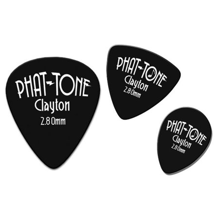 Clayton PTRT-3 Phat - Tone Rounded Triangle Guitar Picks, 3 Pieces - image 1 de 1