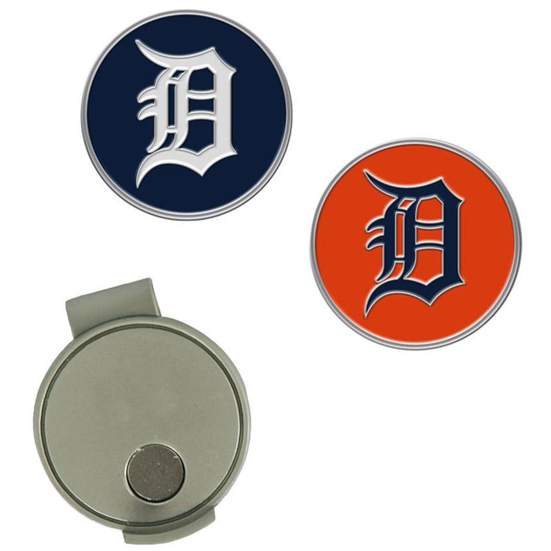 Detroit Tigers Hat Clip & Ball Markers Set - No Size