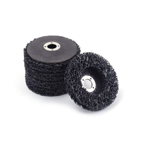 5pcs Abrasive Poly Strip Disc Wheels  115 x 22mm Rust Paint Remover Grinding Tools For Angle