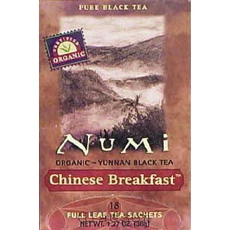 Numi Thé bio Petit déjeuner chinois, Plein Feuille Thé noir, 1,27 Ounce, 18 Sacs COMPT.SONN.FAX thé