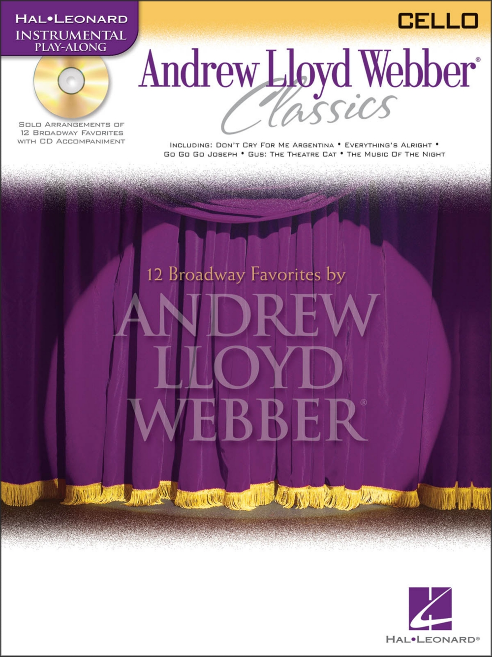 Hal Leonard Andrew Lloyd Webber Classics for Cello Book CD by