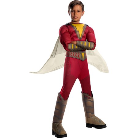Halloween Shazam Deluxe Child Costume](Shazam Costume Kids)