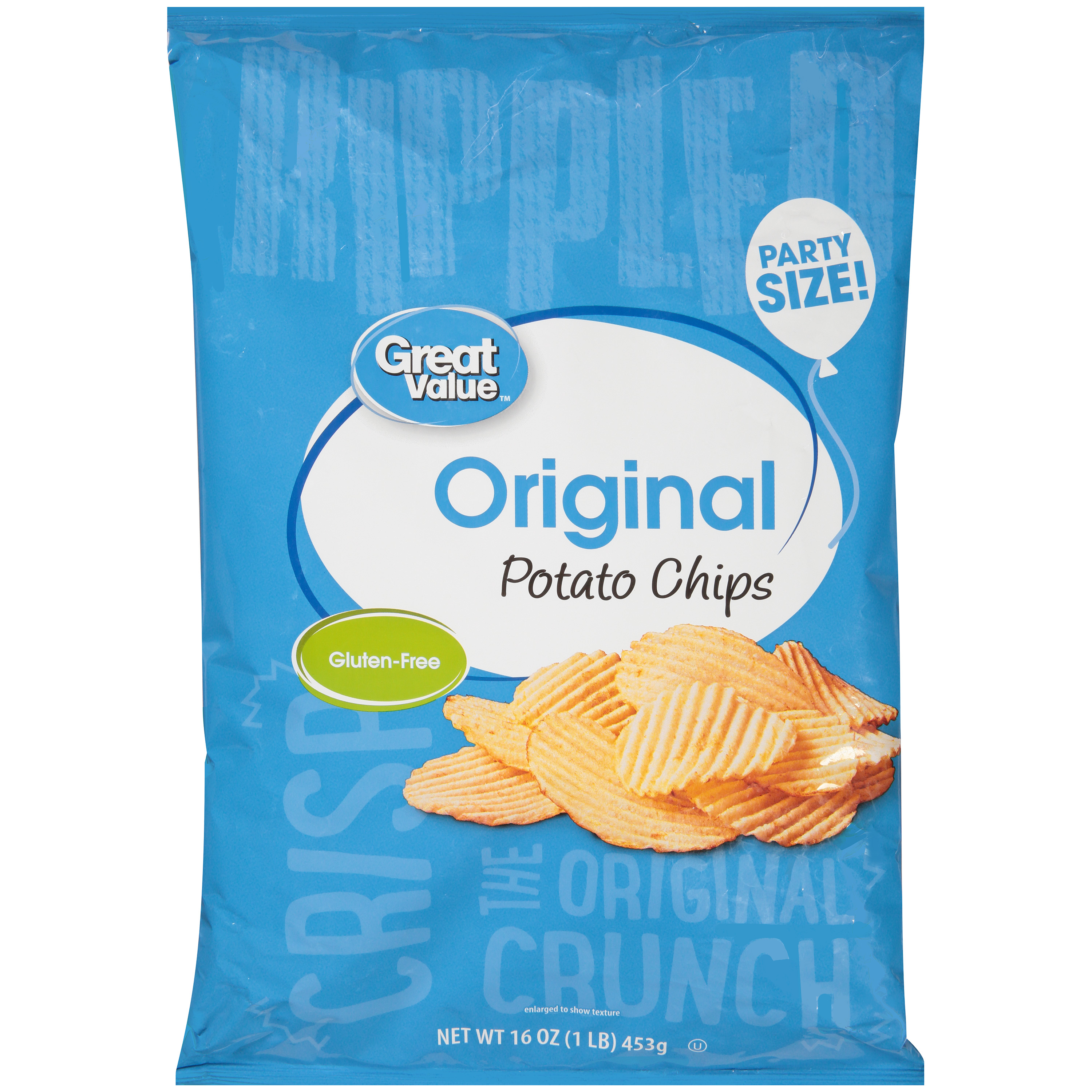 Great Value 16oz Ripple Family Size Potato Chip