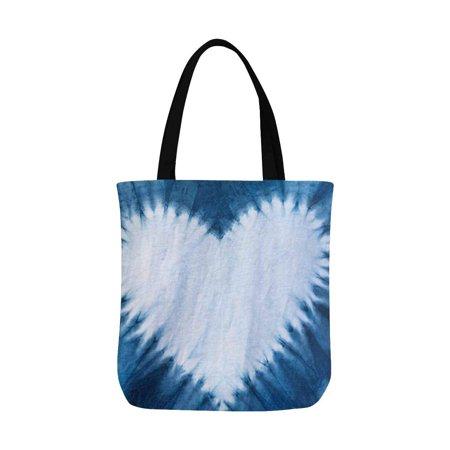 HATIART Heart Tie Dye Pattern Reusable Grocery Bags Shopping Bag Canvas Tote Bag Shoulder Bag - image 2 of 3