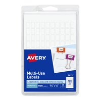 "Avery Removable Labels, Handwrite, 5/16"" x 1/2"", 1,000 Labels (5412)"
