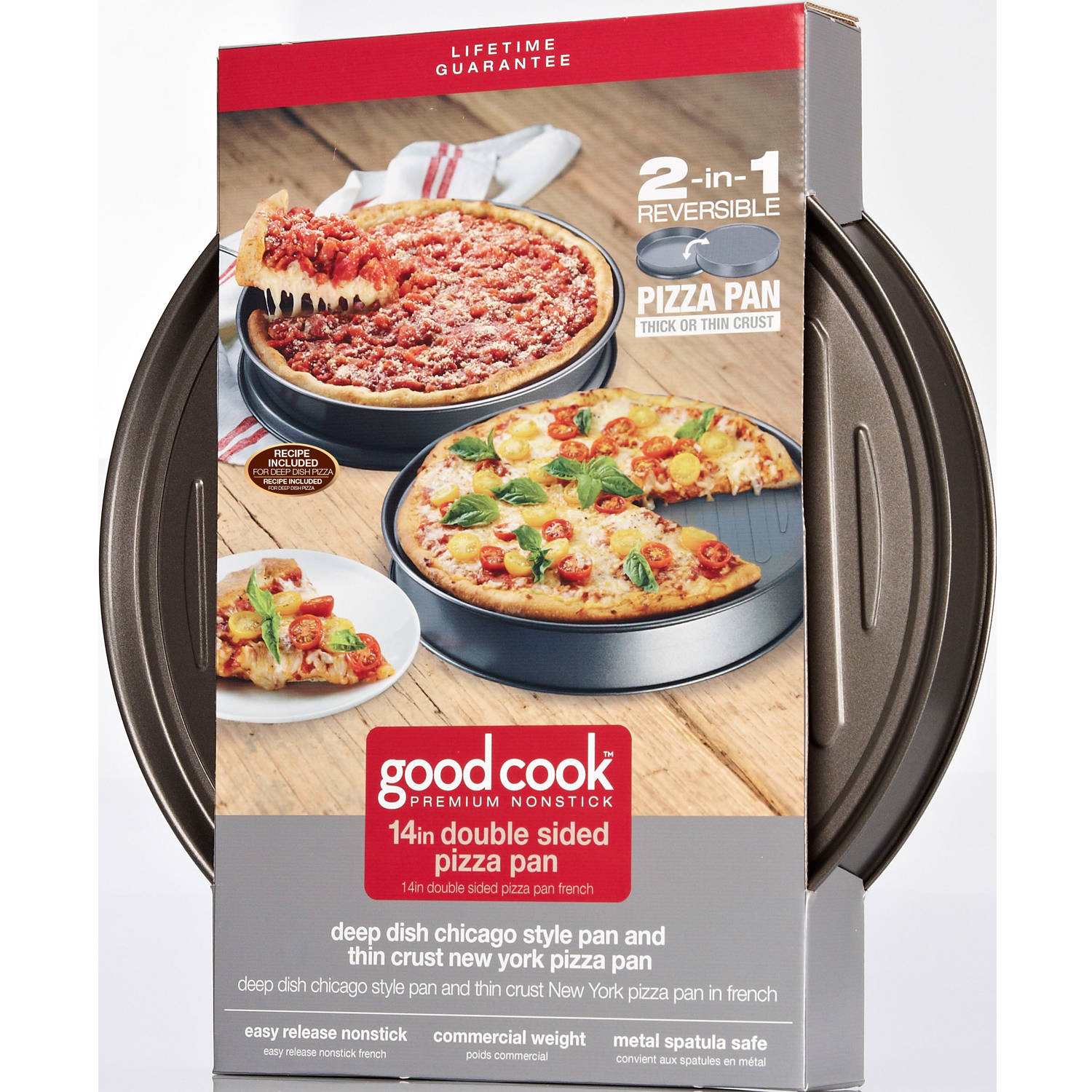 Good Cook Nonstick Double-Sided Deep Dish Pizza Pan, 14""