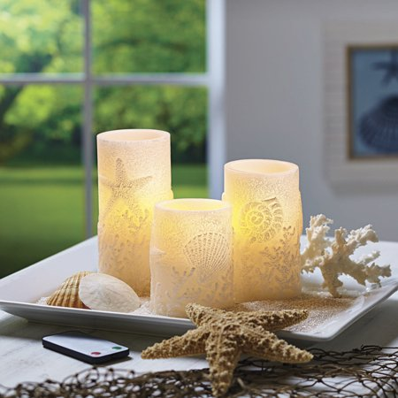 Better Homes And Gardens Flameless Led Pillar Candles 3