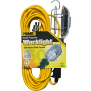 Prime TL010625 25' 16/3 SJT Yellow Work Light With Metal Guard