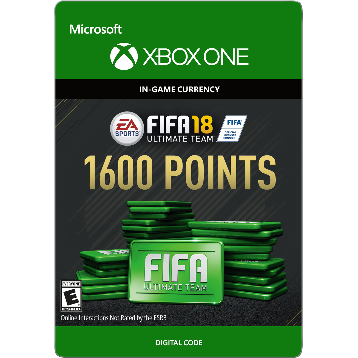 Xbox One FIFA 18 Ultimate Team 1600 Points (email delivery)
