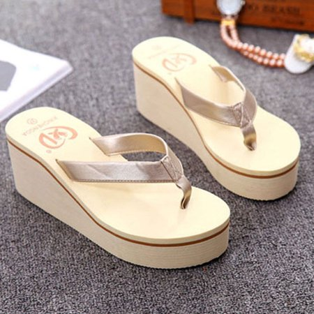 Summer Sexy Flip Flops Women Sandals Bohemian Muffin Slope With Sandals GD/37