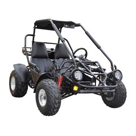 - Black TrailMaster 150 XRS 150cc Go Kart with Automatic Transmission w/Reverse! Big 20