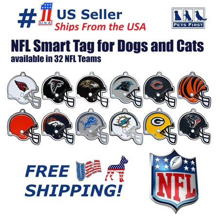 competitive price 4b0ca b2d77 Pets First NFL Philadelphia Eagles Smart TRACKING ID Tag - Best Lost Dog  Retrieval System with Engrave NFL Logo