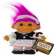"Russ Berrie My Lucky Storybook 6"" Little BO PEEP Troll Doll ~ Fuschia Hair"