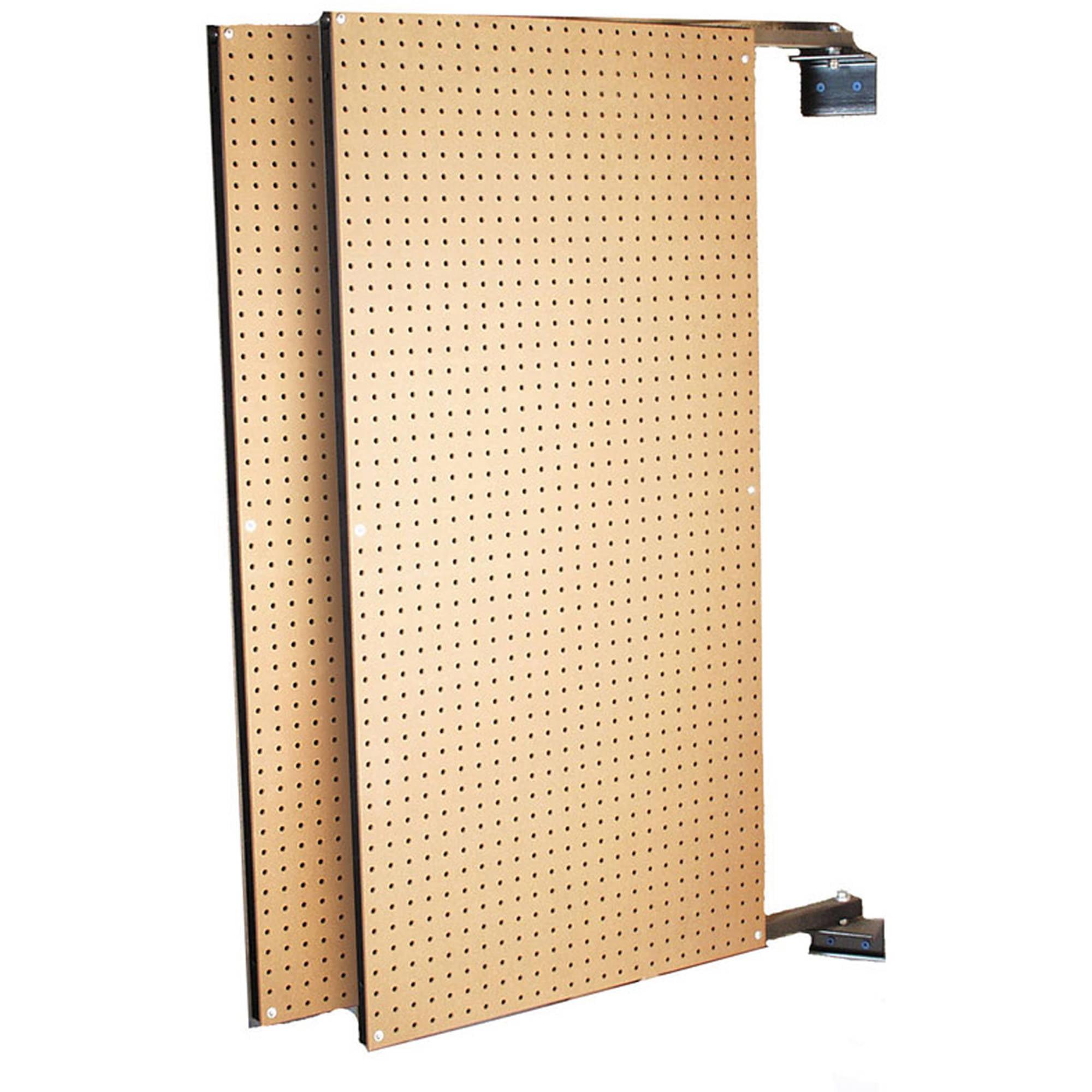 "XtraWall (2) 24""W x 48""H x 1-1/2""D Wall Mount Double-Sided Swing-Panel Pegboard"