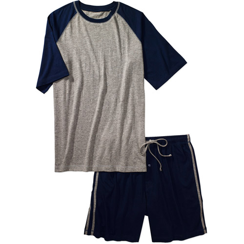 Hanes - Men's Raglan Tee and Knit Jam Set