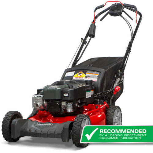 "Snapper 21"" Self Propelled Gas Rear Wheel Drive Mower with Side Discharge, Mulching, Rear Bag and Electric Start"